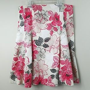 New York & Company Floral A-line Skirt